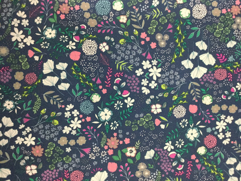 Blooming Ground - Luscious - Flower Child by Maureen Cracknell for Art Gallery Fabrics - Premium Cotton