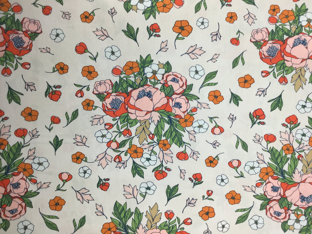 Soulmate Floral - Love Story by Maureen Cracknell for Art Gallery Fabrics - Premium Cotton