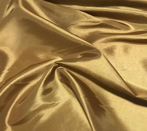Gold - Faux Silk Taffeta Fabric