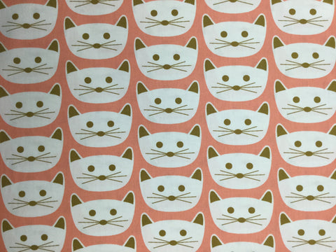 Cat Nap Pink - Blush by Dana Willard for Art Gallery Fabrics - Premium Cotton