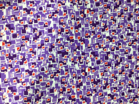 Revved Up Retro Psychedelic Relic Purple - by Studio 37 for Marcus Fabrics - Cotton Quilting Fabric