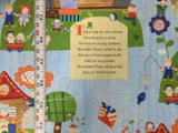Windham - Mother Goose - Old Woman Lived in a Shoe- Cotton Quilting Fabric