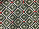 Windham - Wild Field - Diamonds Green & White - Cotton Quilting Fabric