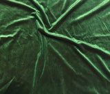 Iridescent Forest Green/ Maroon - Stretch Polyester Velvet Fabric