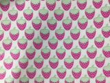Pink Strawberries - David Textiles - Cotton Flannel Fabric