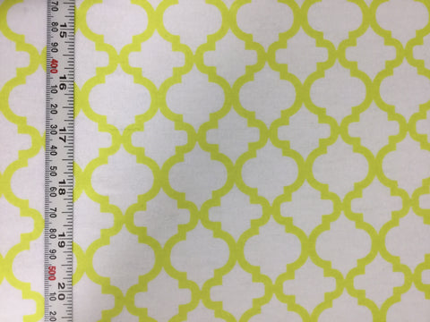 Yellow & White Lattice - David Textiles - Cotton Flannel Fabric