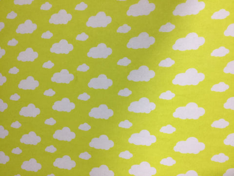 Yellow Clouds - David Textiles - Cotton Flannel Fabric