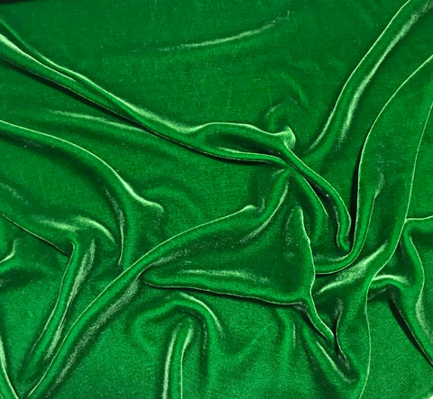 Kelly Green - Silk Velvet Fabric