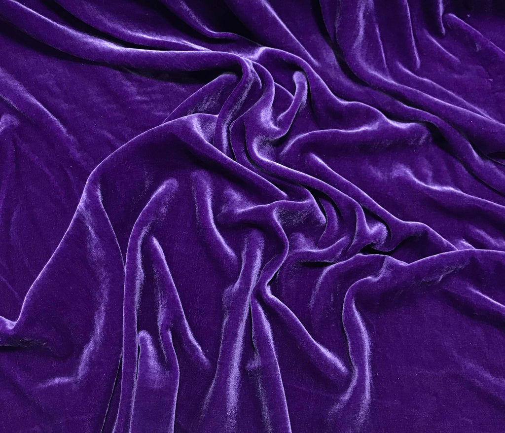 Violet Purple - Silk Velvet Fabric
