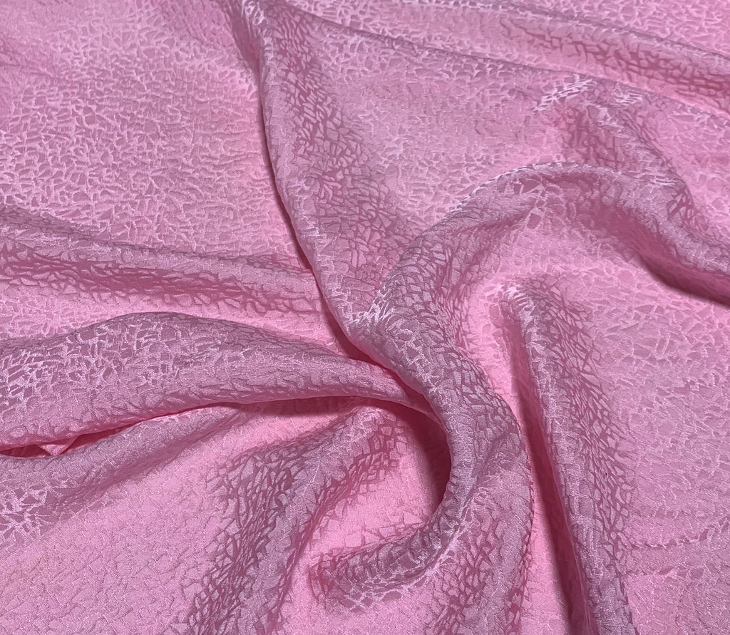 Ballerina Pink Pebbles - Hand Dyed Silk Jacquard
