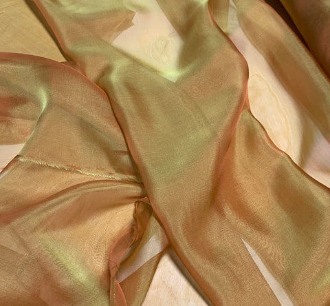 Reddish Gold - Iridescent Silk Chiffon