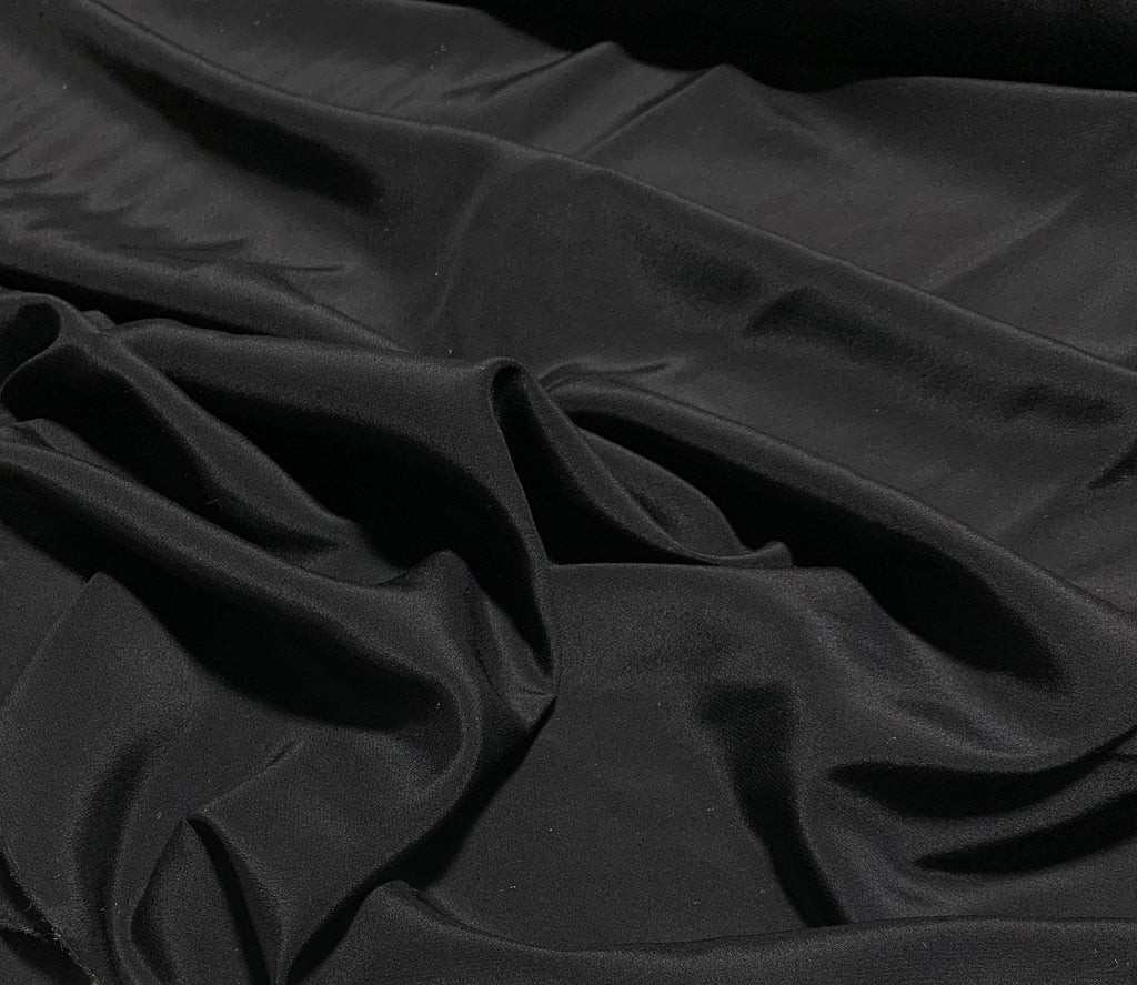Black - 16mm Silk Crepe de Chine Fabric