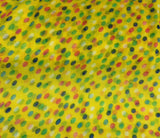 Yellow with Multi Polka Dots - Polyester Gauze Voile