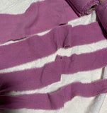 Hand Dyed Lilac 100% Silk Noil Ribbon ( 4 Widths to choose from)