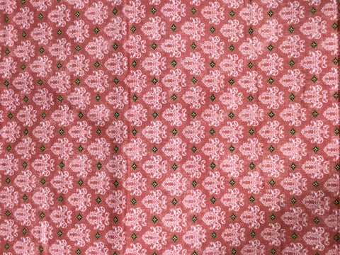 Birds of a Feather Dream Damask Rose - Bristol Bay studio for Benartex - Cotton Quilting Fabric