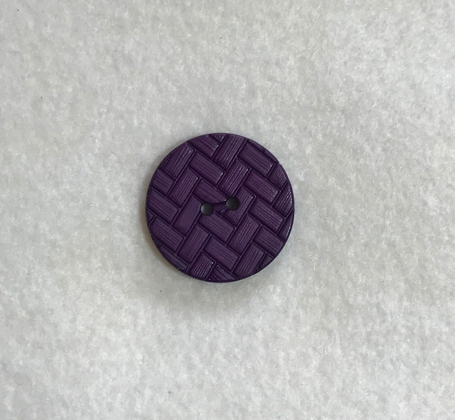 Purple Chevron Herringbone Plastic Button - Dill Buttons Brand (3 Sizes to Choose From)