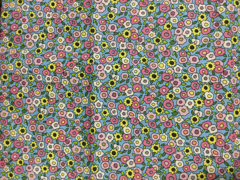 Pink & Yellow Floral - Virginia Robinson for Fabri-Quilt - Cotton Fabric