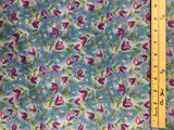 Purple & Blue Tulip Floral - Art Soul for Kona Bay - Cotton Fabric