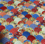 Red & Blue Japanese Fans - Kyoto Garden - Northcott Cotton Fabric