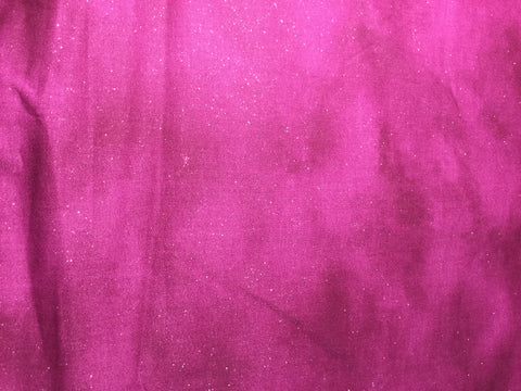 Silver Glitter on Boysenberry - Blank Textiles - Cotton Fabric