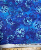 Cobalt Dandelion Watercolor - Make A Wish - Northcott