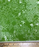 Green Floral - Baralla - Banyan Batiks Cotton Fabric