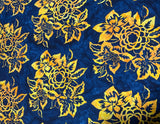 Blue & Yellow Floral - Baralla - Banyan Batiks Cotton Fabric
