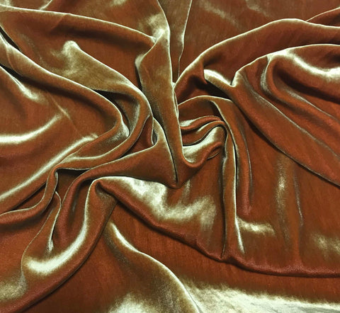 Iridescent Golden Red - Silk Velvet