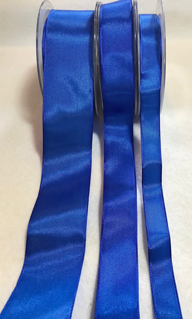Royal Blue Wired Taffeta Ribbon - Made in France (3 Widths to choose from)