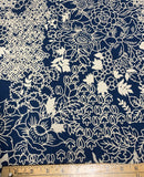 Navy Floral - Baralla - Banyan Batiks Cotton Fabric