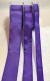 Purple Wired Taffeta Ribbon - Made in France (3 Widths to choose from)