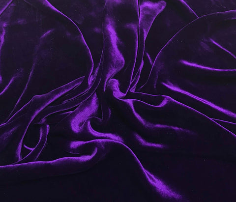 Aubergine Purple - Silk Velvet