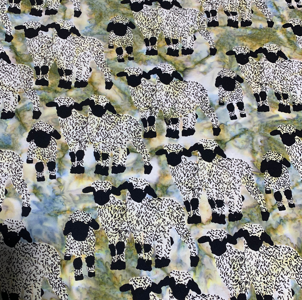 Green Sheep - Kilts & Quilts - Banyan Batiks Cotton Fabric