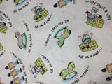 Pastel Humpty Dumpty Nursery Rhyme - Cotton Flannel Fabric