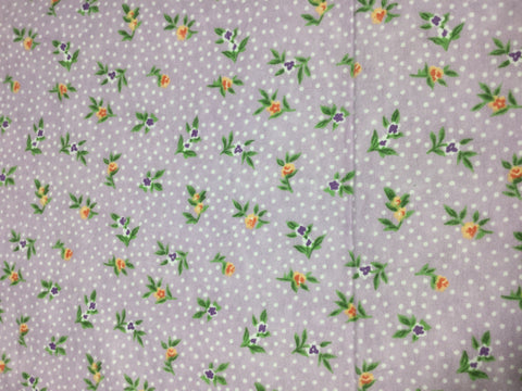 Purple with Flower Buds Floral - Cotton Flannel Fabric