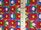 Red Kids Squares Check - Cotton House - Cotton Fabric