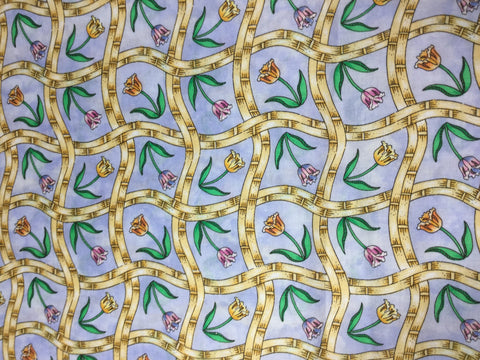 Blue Country Tulips - Moda - Cotton Fabric