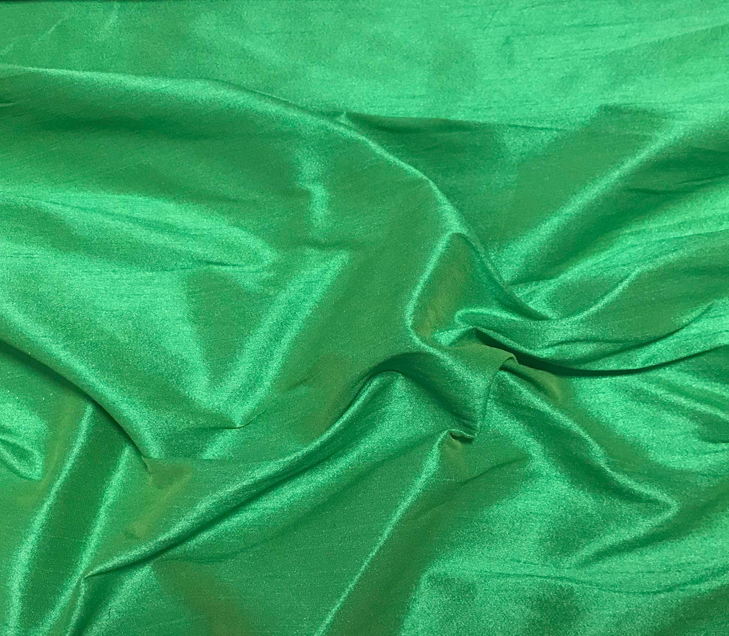 Bright Green - Faux Silk Dupioni Fabric