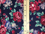 Rose Floral - Chelsea Rose & Hubble - Wool Cotton Twill Fabric
