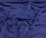 Dark Denim Blue - Hand Dyed Soft Silk Organza