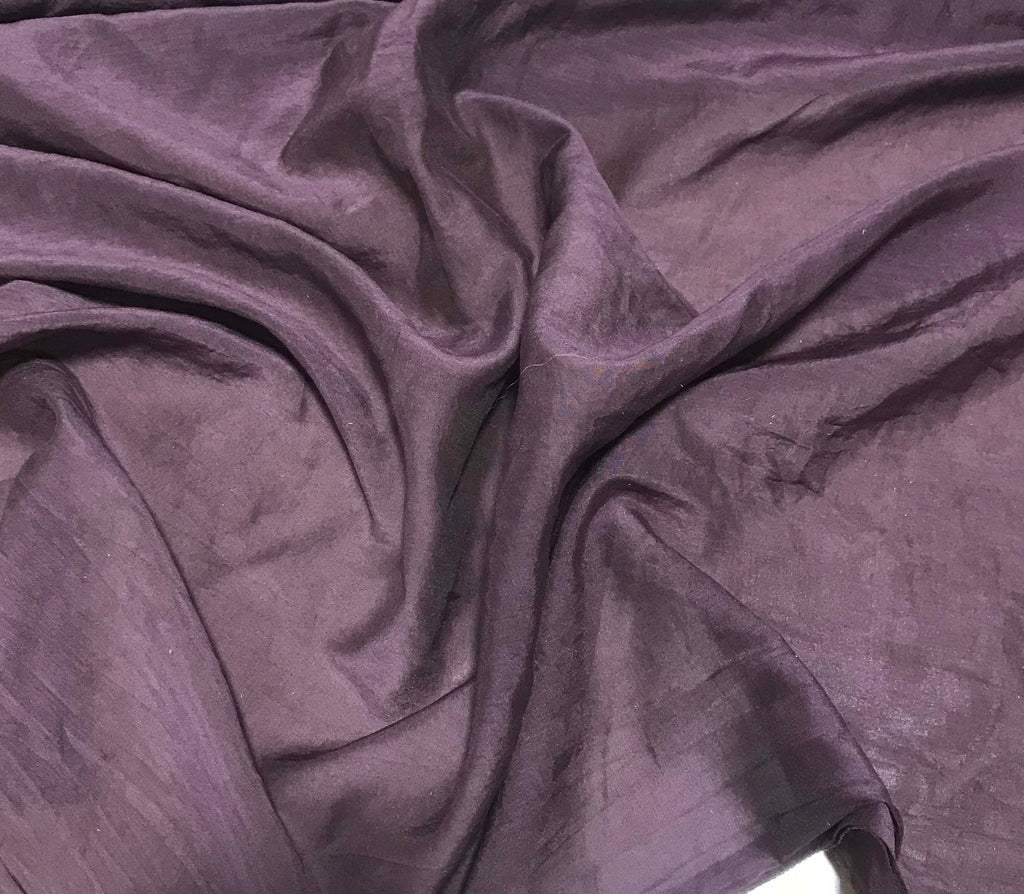 Chocolate Brown - Hand Dyed Silk/Cotton Voile