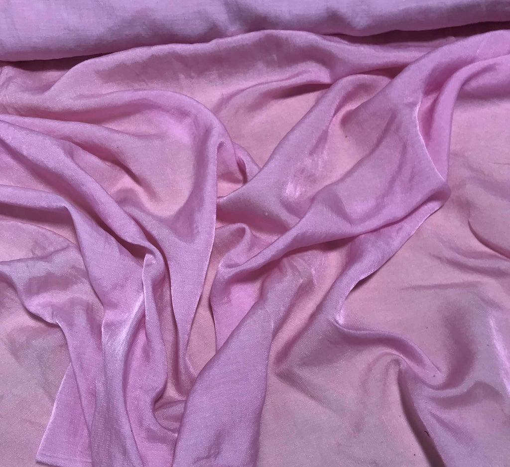 Baby Pink - Hand Dyed Silk/Cotton Sateen