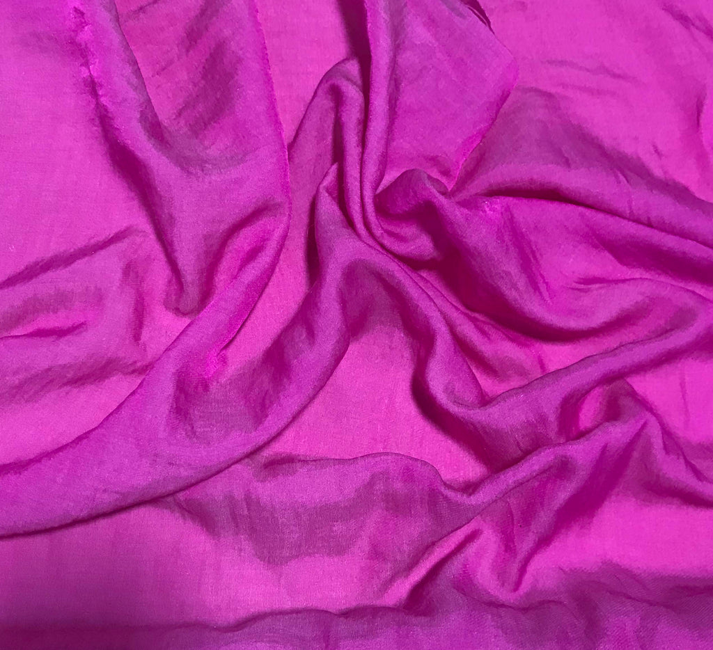 Orchid Pink - Hand Dyed Silk/Cotton Sateen