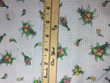 Flower Bouquet on Gingham - Marcus Brothers - Cotton Fabric