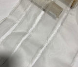 White 100% Silk Sheer Organza Ribbon ( 4 Widths to choose from)