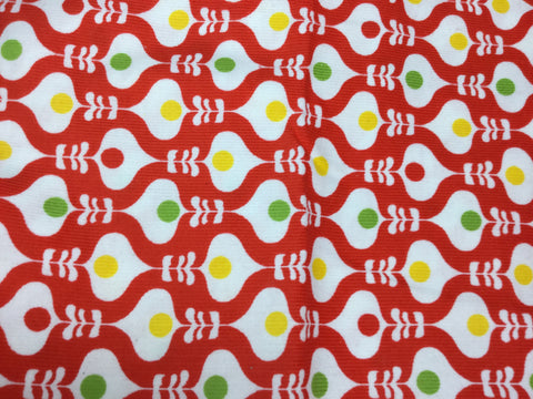 Ogee Red Design - Robert Kaufman - Corded Cotton Flannel Fabric