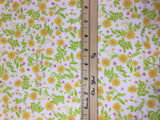Yellow & White Ditsy Floral - Robert Kaufman - Cotton Flannel Fabric