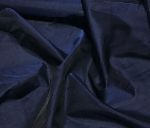 Navy Blue - Silk Organza Fabric