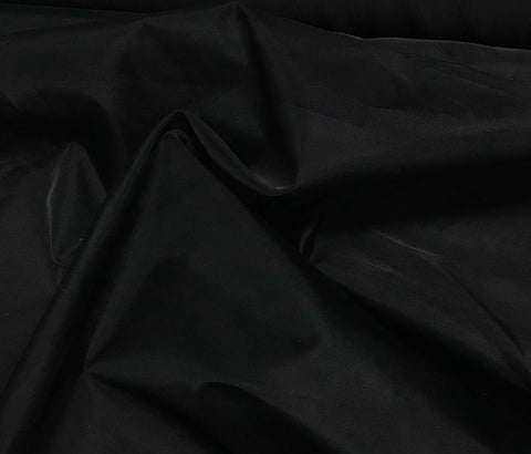 Black - Silk Organza Fabric