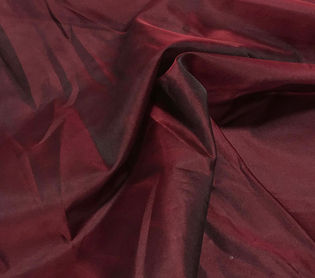 Burgundy Red - Silk Organza Fabric